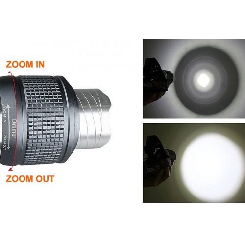 RJ-2800 1*LED 3-Mode 600LM Zoom Cool White LED Headlamp