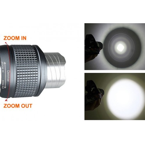 RJ-2800 1*LED 3-Mode 600LM Zoom Cool White LED Headlamp
