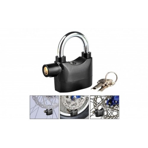 Alarm Padlock Alarm Lock for Motorcycle Long Beam Bike Bicycle