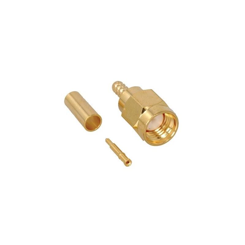 SMA MALE CONNECTOR RG174/U, RG223/U ΠΡΕΣΑΡΙΣΤΟ