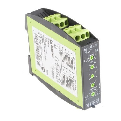 DIN RAIL TIMER RELAY 16 FUNCTIONS 2C/O 24-240VAC/DC