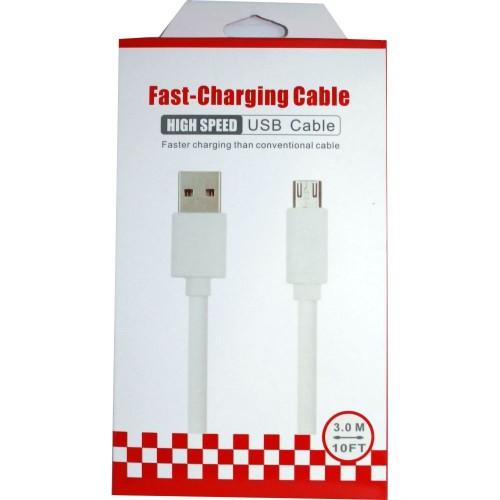 ΚΑΛΩΔΙΟ ΑΡΣΕΝΙΚΟ USB A ΣΕ ΑΡΣΕΝΙΚΟ MICRO USB TYPE B 3M