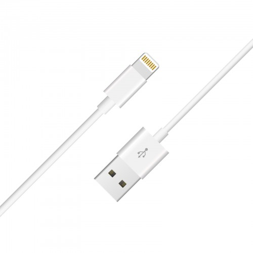 DATA CABLE FOR APPLE IPHONE 8-PIN WHITE