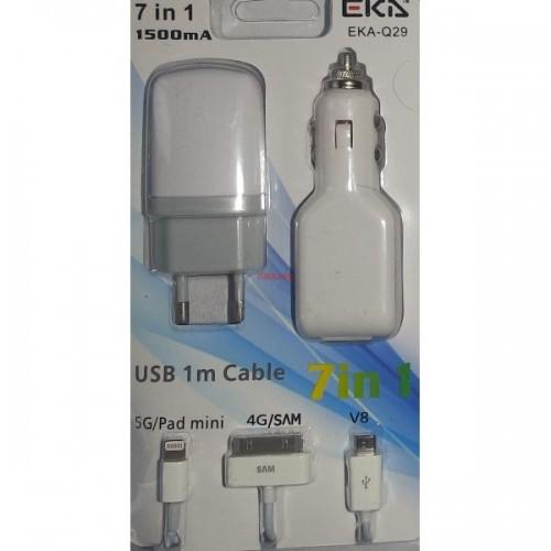 IPHONE 5 KIT USB TRAVEL + car