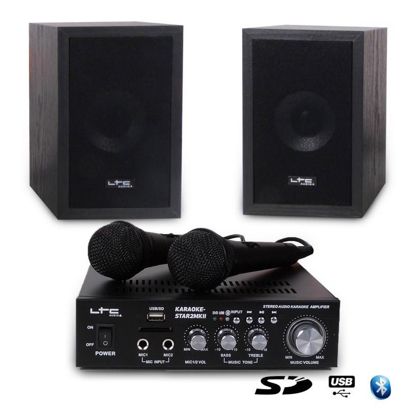 KARAOKE-STAR2MKII ΣΕΤ ΡΑΔΙΟ ΕΝΙΣΧΥΤΗΣ HI-FI + USB - MP3 + Bluetooth KARAOKE