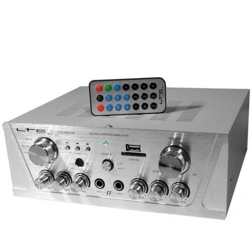 ΕΝΙΣΧΥΤΗΣ HI-FI 2*50W ΜΕ MP3 PLAYER USB SD ECHO KARAOKE Bluetooth