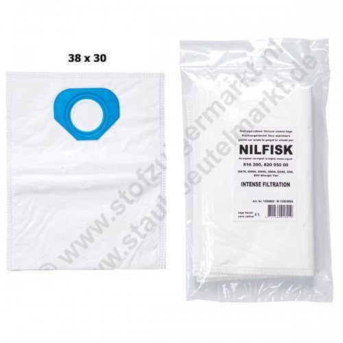 Vacuum Cleaner Bags Set of 5 (Liner) for Nilfisk