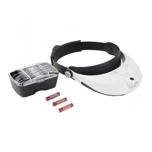 2-LED-Headband-Illuminating-Magnifier-Head-Lamp-Light-w-5-Lens-Magnifying-Loupe