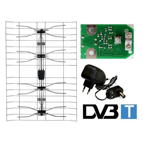Broadband TV antenna + amplifier + power supply