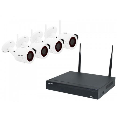 WIRELLES Set of 4 ston NVR-Fi. 1RM