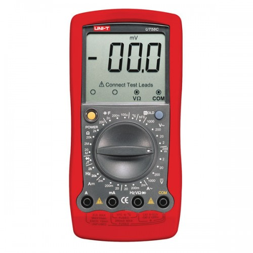LCD Digital Multimeter DC/AC Volt Amp Ohm Capacitance Tester Meter