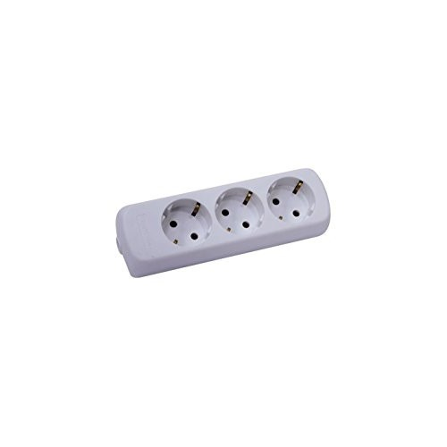 Multiple Outlet Power Strip Extension Cable 3 Slots white