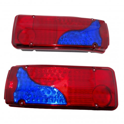 SET LED REAR TAIL LIGHTS LAMP LORRY TRAILER TRUCK FIT MAN DAF SCANIA