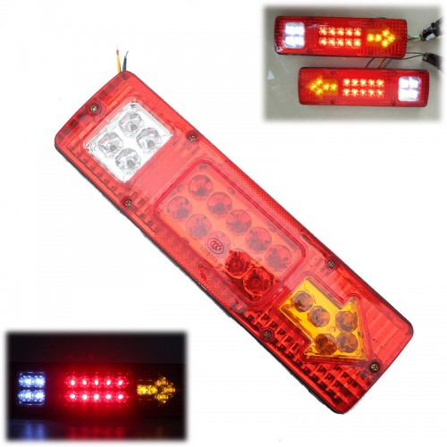 19 LED LIGHTS TRUCK RED