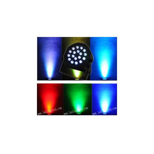 18pcs*3W RGB 3-IN-1 Plastic Indoor LED Par Light