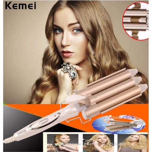 Triple Barrel Ceramic Hair Wave Waver Curling Iron Wand Tong Hair Pearl Waving Styling Tools Twiste Iron