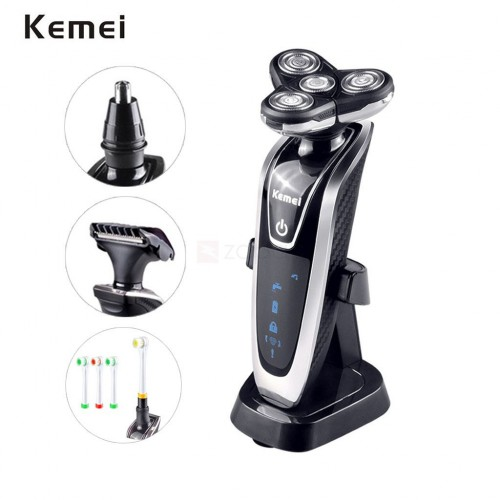 Kemei KM-5181 Washable Men's Electric Shaver Hair Trimmer Toothbrushes