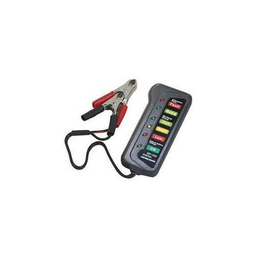 12V Car Battery & Alternator Tester - Test Battery Condition & Alternator Charging (LED Indication)M