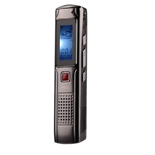 Recording 8GB Steel Stereo Recording Mini Digital Audio Recorder Voice Recorder MP3 Player FM