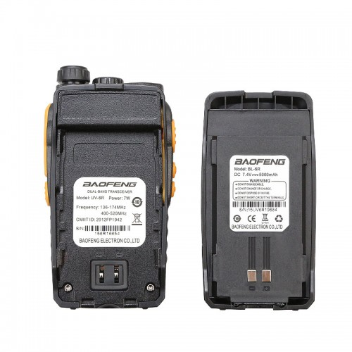 Baofeng walkie talkie battery for UV6R baofeng UV 6R extra battery 1800mAh radio