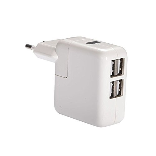 Universal 2.1A/1A 4-Port USB AC Power Adapter Wall Charger