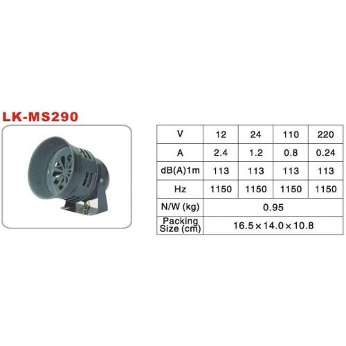Long Life Ms-290 Motor Siren
