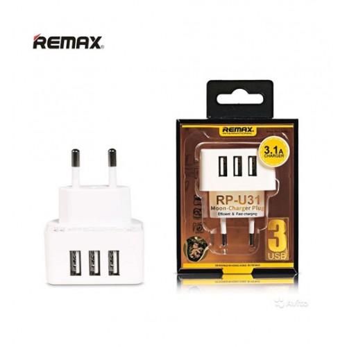 ΦΟΡΤΙΣΤΗΣ REMAX 3X USB 3100mA