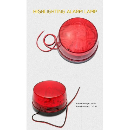 FLASH LIGHT MINI 12V ΚΟΚΚΙΝΟ