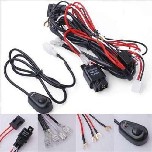 12V 40A LED Light Bar Driving Light Wiring Harness Kit
