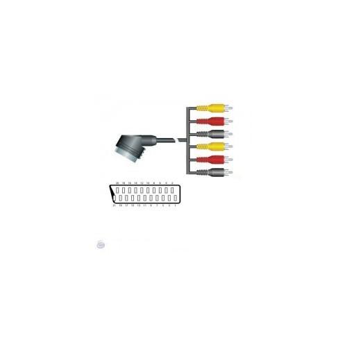ΑΠΛΟ SCART - 6X RCA 1.5M