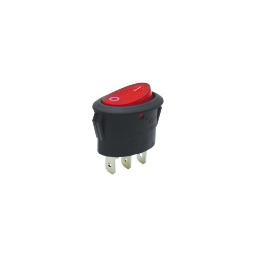 MINI SIZE OVAL ROCKER SWITCH 3P WITH INDICATOR LIGHT ON-OFF