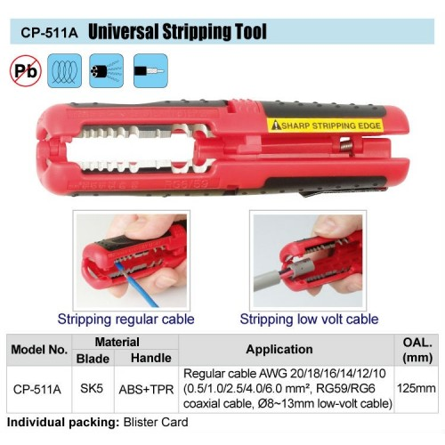 UNIVERSAL WIRE STRIPPER CP-511A
