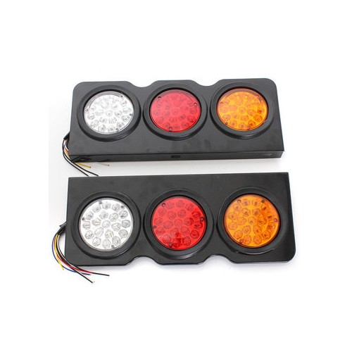 LED Truck/Trailer Tail Lights with Iron Bracket Base