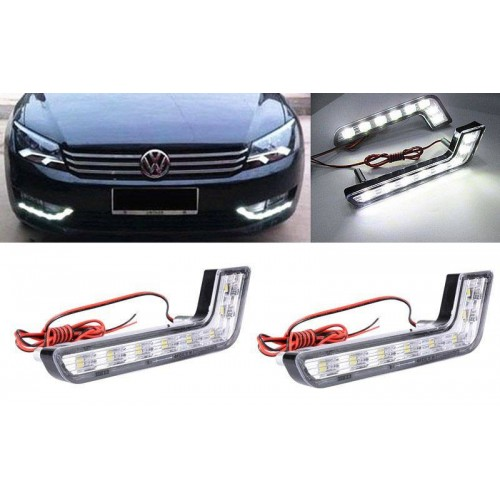 DRL Daytime Running Head Lamp L shape Fog Light white Waterproof Kit 12V Car Styling Driving Light