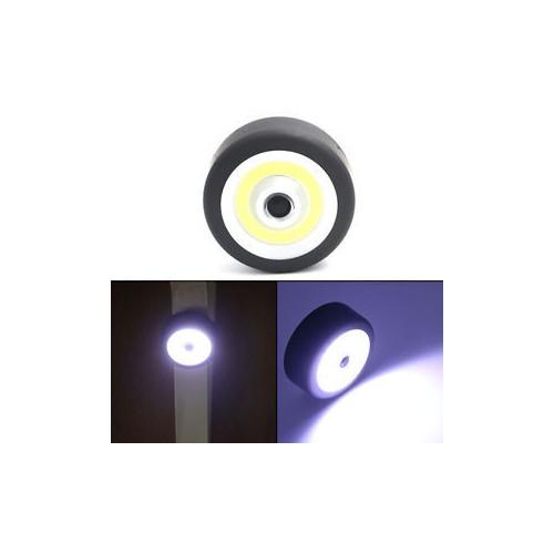 OB LED Round Flashlight Torch Car Inspection Light W/ Magnetic Base+Adjust Hook