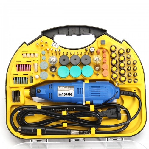 211Pcs Electric Rotary Drill Grinder Engraver Sander Polisher DIY Craft Tool Set