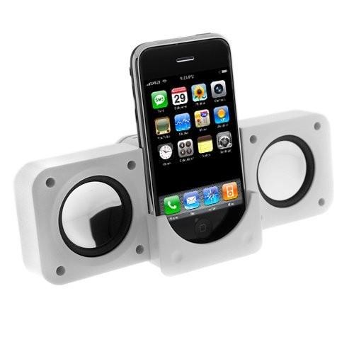 White Portable Folding Stereo Mini Speaker