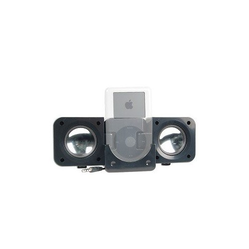 Black Portable Folding Stereo Speake