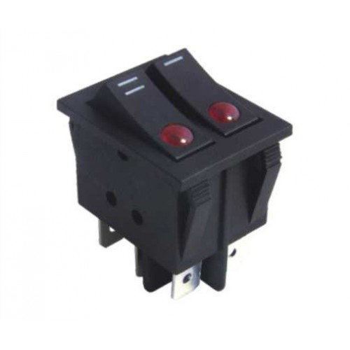 LARGE SIZE DOUBLE ROCKER SWITCH 6P WITH INDICATOR
