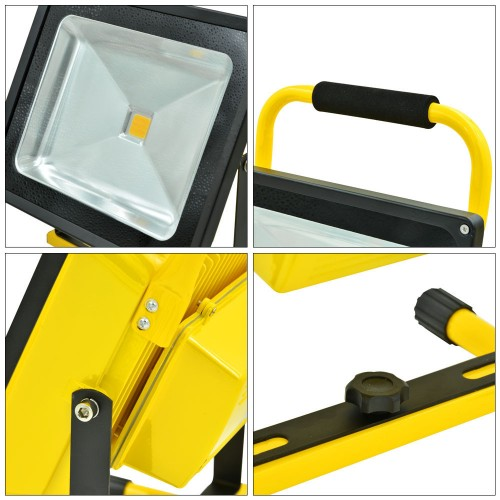 50W LED Portable Rechargeable LED Floodlight Spot Light Outdoor Camping Lamp Flood light Emergency Lighting