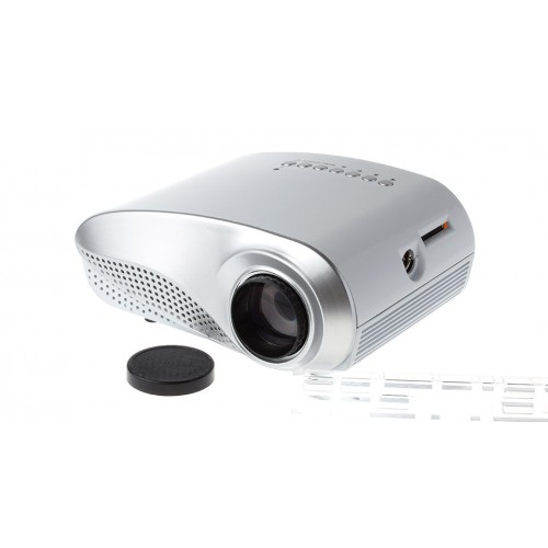 H60 3D Portable LED Projector HD 1080P LCD 60 Lumens Supports HDMI USB VGA IR SD