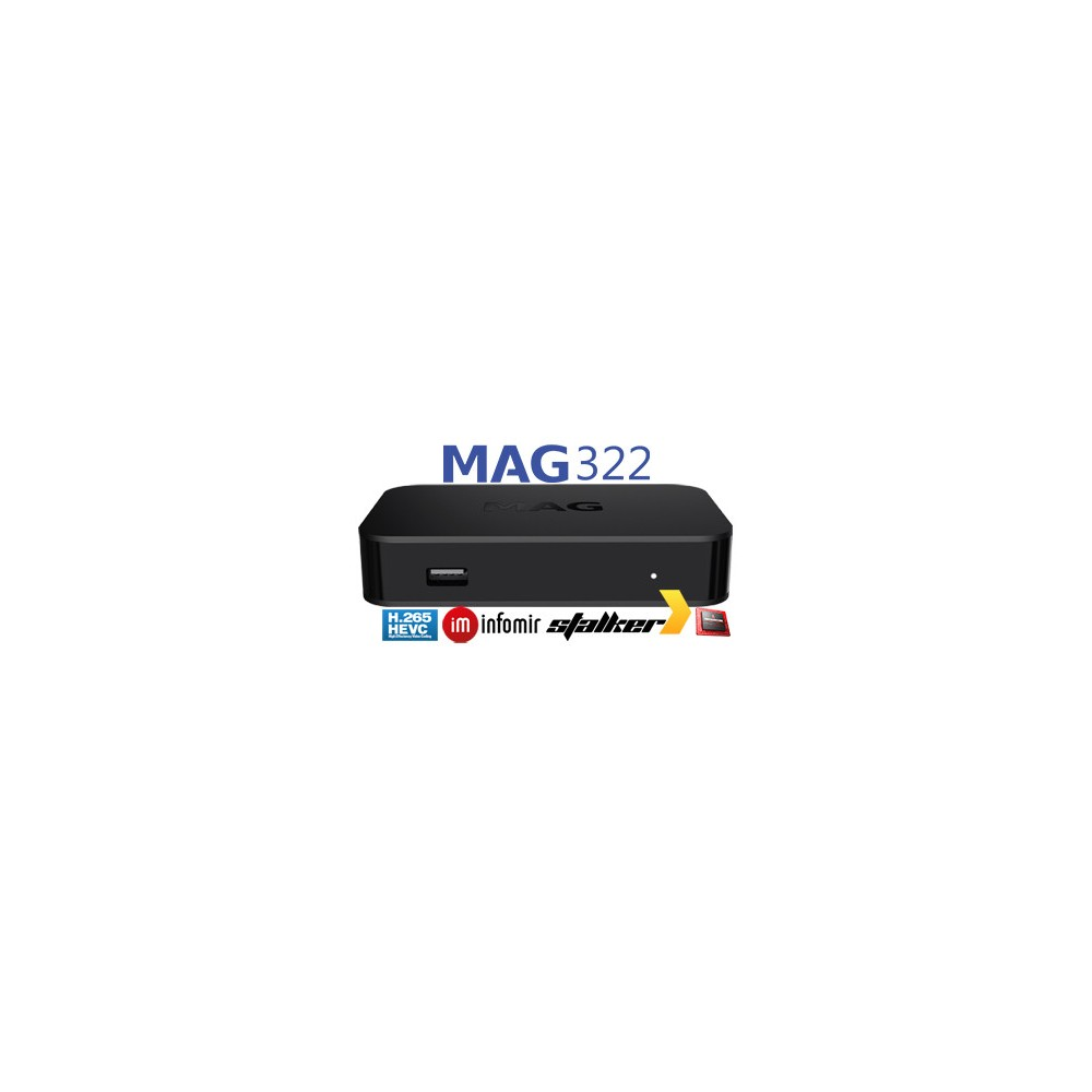 MAG322 INFOMIR MAG322/323 IPTV BOX MAG 322 NEW MODEL TO REPLACE MAG