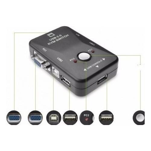 SWITCH KVM 2PC ΣΕ 1VGA+2 USB