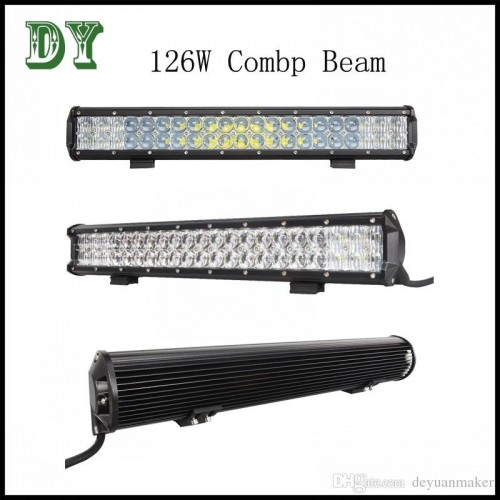 New 126w LED light bar SUV LED headlight Jeep roof lights ATV ktm motorcyclecar fog lightst