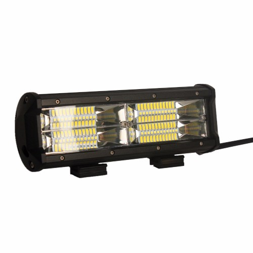 Dual Row 144W 6000K LED Light Bar Flood Beam