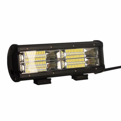 Dual Row 144W 6000K LED Light Bar Flood Beam
