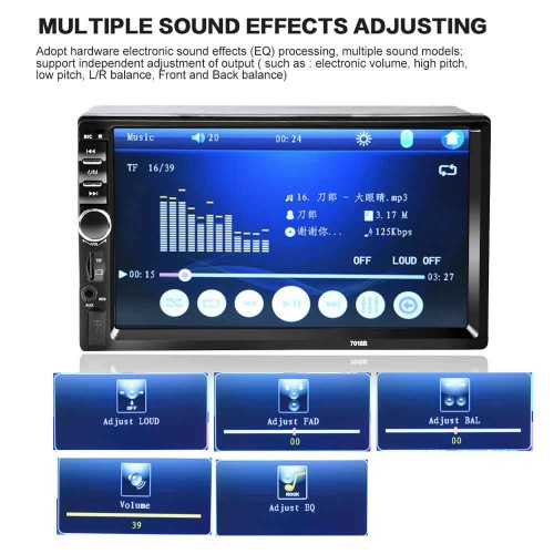 ΟΘΟΝΗ 2DIN Radio MP5 Player 7'' HD Touch Screen Bluetooth