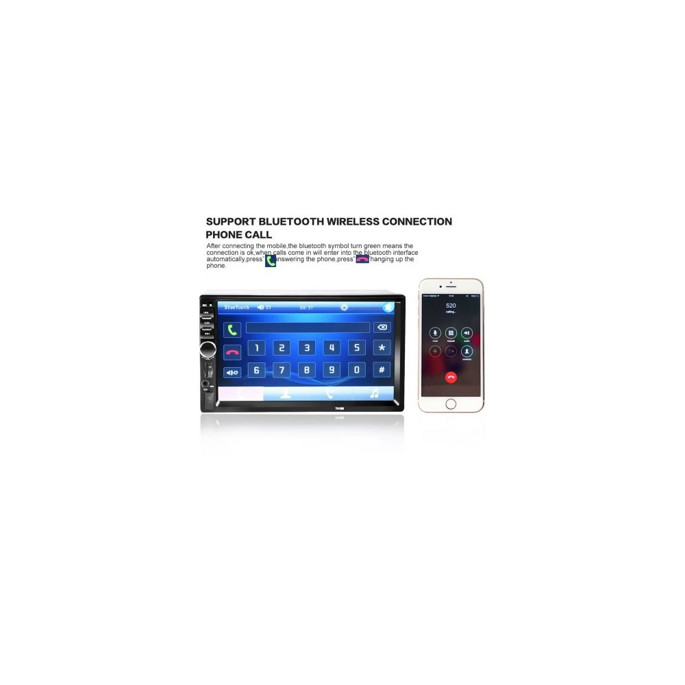 CAR MP5 PLAYER 7018b 7018B 7 Inch Bluetooth V2 0 Car MP5 Player