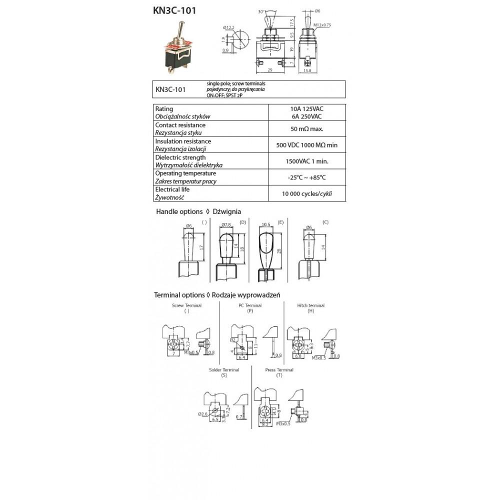 KN3C-101 (2P) ΔΙΑΚΟΠΤΕΣ ΜΟΧΛΟΥ ON-OFF 2PIN 10 AMPER 7c3dcb4cb7f