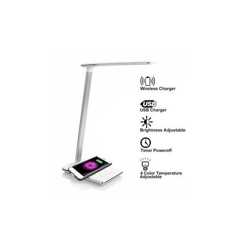 Folding LED Desk Lamp with Qi Wireless Charger
